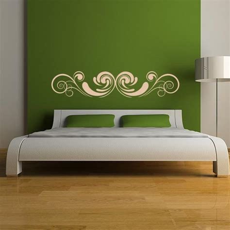 decal headboard ornate headboard wall decal wall decal world