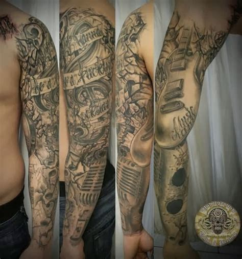 music sleeve tattoos images designs