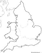 Blank Map Of England And Wales by Europe Enchantedlearning Com
