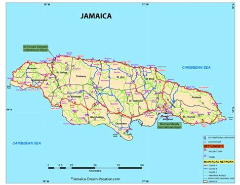 printable map of jamaica with parishes map of jamaica with parishes
