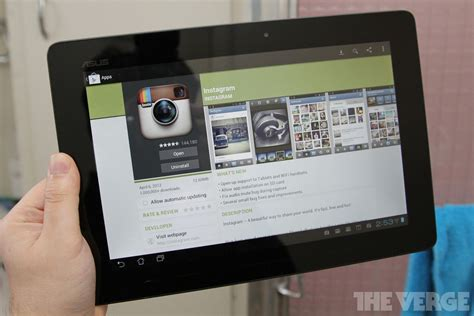 instagram for android update adds tablet and wi fi device support the verge
