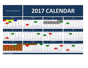 Calendar 2017 Template Excel 2017 And 2018 Calendars Excel Templates