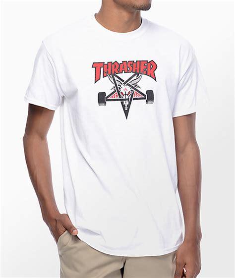 Tshirt Thrasher One Clothing thrasher two town skategoat white t shirt at zumiez pdp