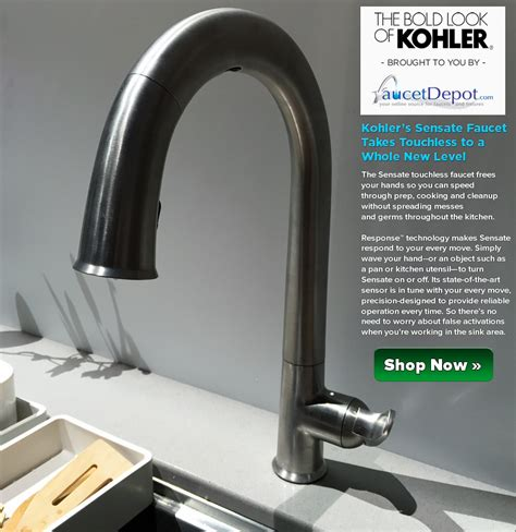 sensate touchless kitchen faucet kohler sensate faucets taking touchless to a whole level