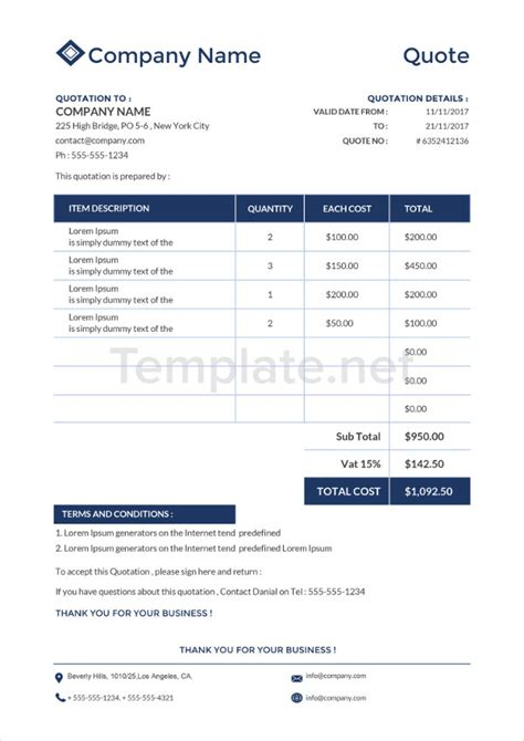 it quotation template 35 best quotation template free premium templates