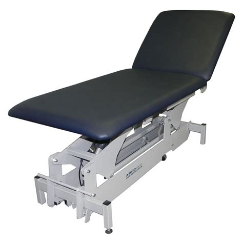 hospital examination couch electric gp hospital exam couch 2 section majac medical