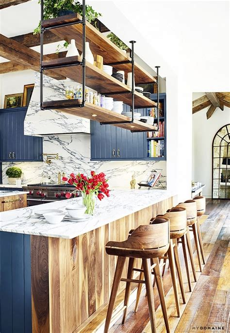 brooklyn kitchen design the blue kitchen in brooklyn decker s texas farmhouse