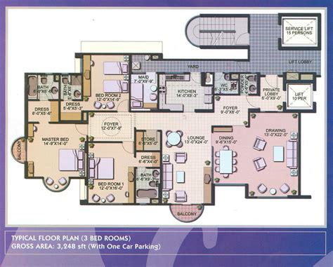 floor plan of an apartment 4 bedroom luxury apartment floor plans buybrinkhomes com