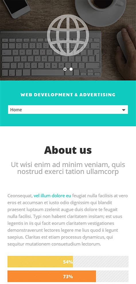 Web Design And Advertising Website Template 52537 | web design and advertising website template 52537