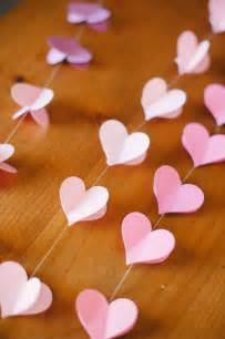Diy Heart Decorations Diy Strung Heart Garland Project Wedding