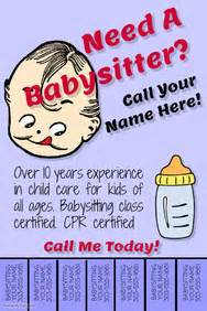 babysitting poster template babysitting flyer templates postermywall