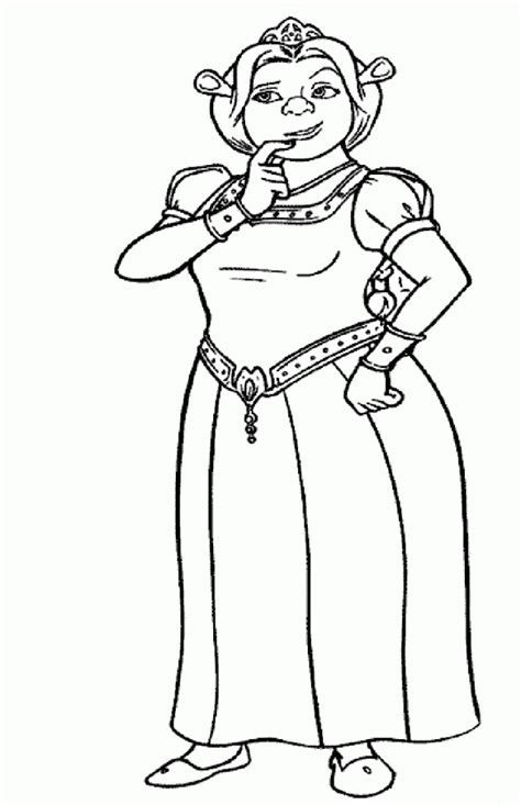 coloring pages of princess fiona shrek coloring book coloring home