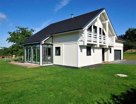 Maison Avec Veranda by Maison Bois Luminance Avec V 233 Randa Nos Maisons Ossatures