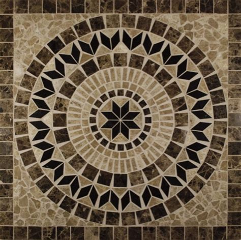 helios 36 x 36 square marble medallion glass tile home