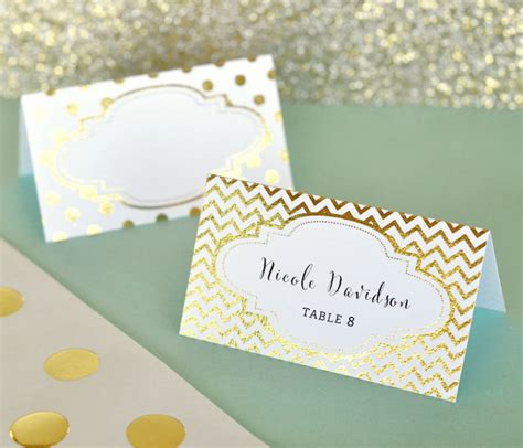 do you put names on wedding place cards 12 place cards