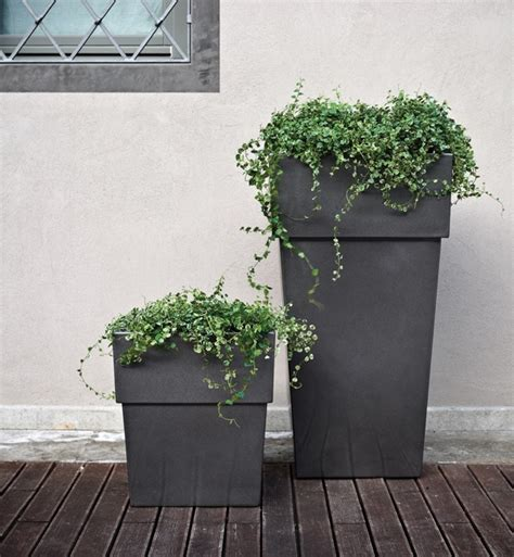 Outside Planter by Serralunga Torre Outdoor Planters Surrounding