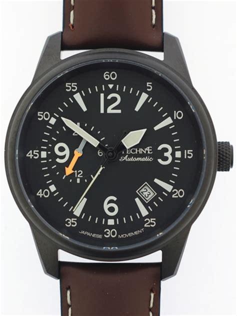 techne goshawk watch techne automatic 41mm goshawk aviator watch with anti