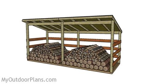 large firewood shed plans myoutdoorplans