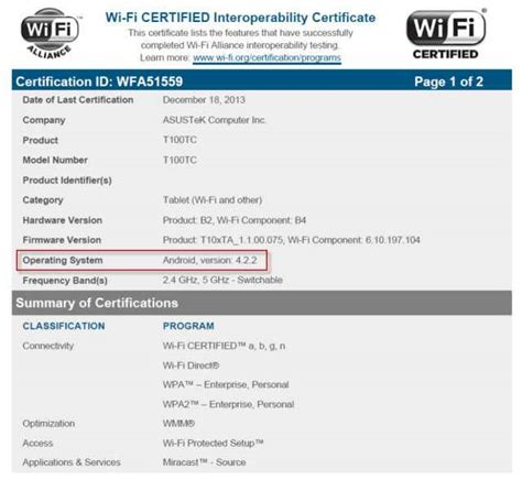 android certification asus t100c makes its appearence in some wifi alliance documents tablet news