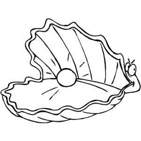 clam colouring in clipart best