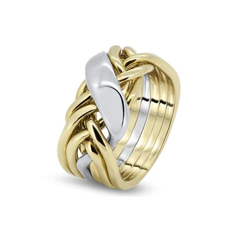 mens gold 6wrd m puzzle rings creations