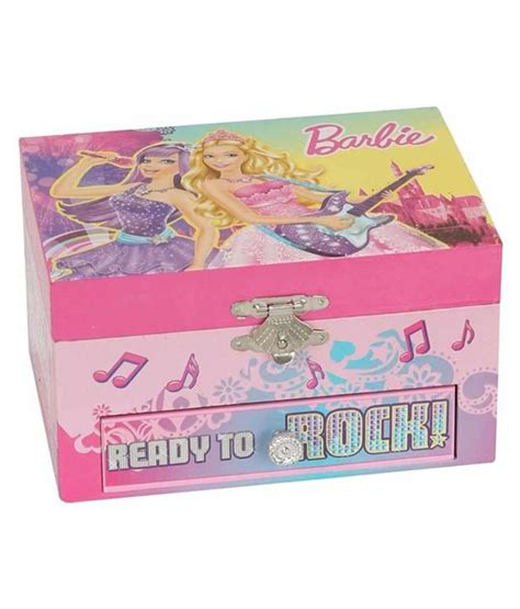 barbie princess and popstar musical jewellery box in pink