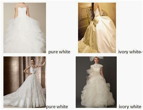 fashion trend clothes on show the difference between white and ivory weeding dresses