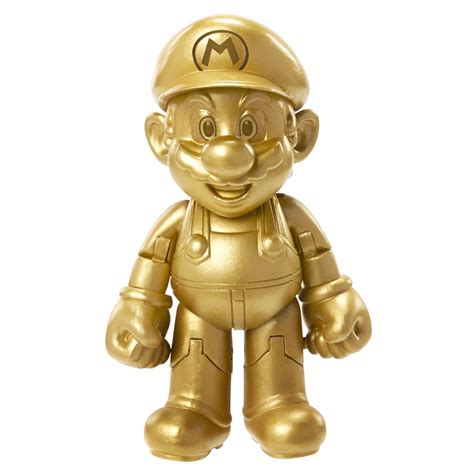 4 inch figure world of nintendo 4 inch figure gold mario for