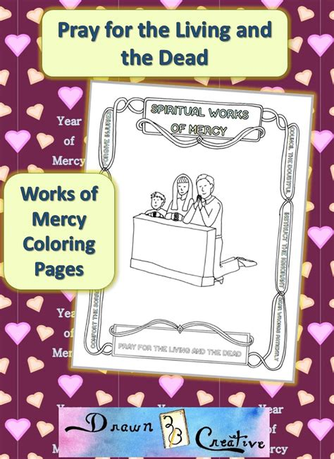 works  mercy coloring pages pray   living