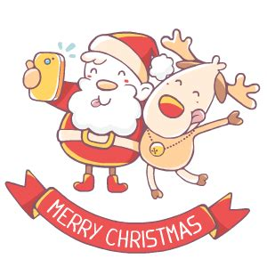 merry christmas stickers  cartoon smart