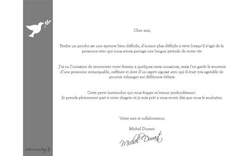 Exemple De Lettre Condoleance Modele Lettre De Condoleances En Francais