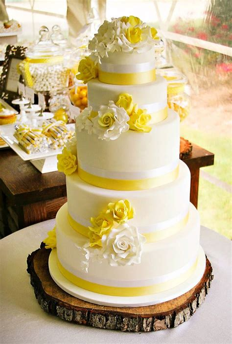 25 best ideas about yellow wedding cakes on yellow big wedding cakes yellow white