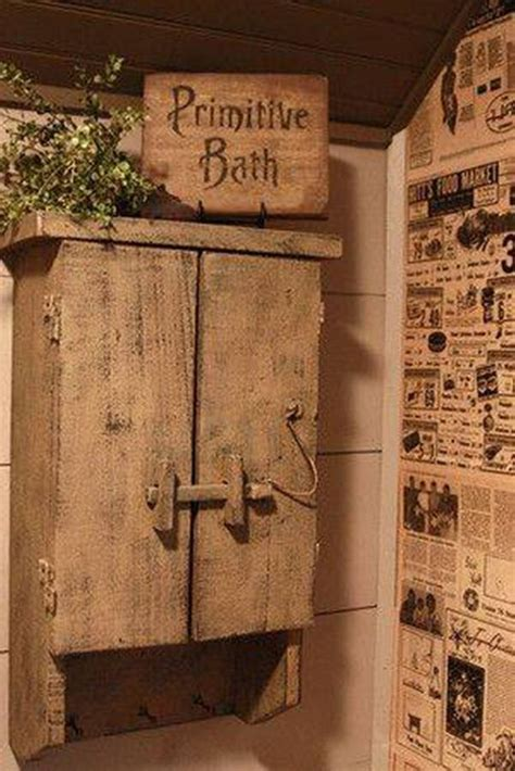 rustic bathroom wall cabinet the 25 best primitive bathroom decor ideas on pinterest
