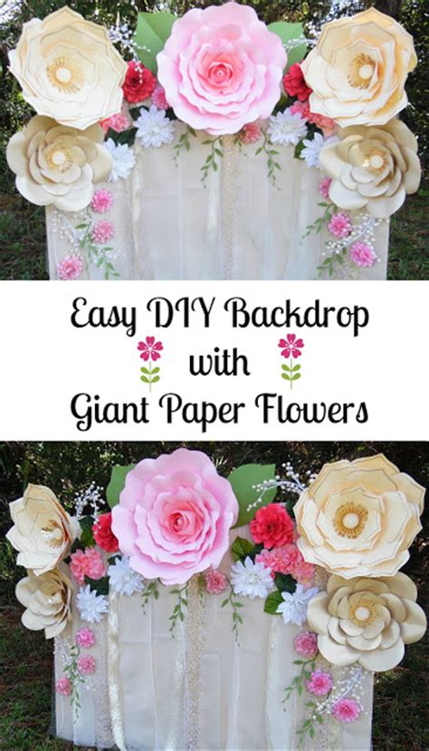 How To Make Paper Flower Backdrop - easy paper flower backdrop assembly abbi kirsten collections
