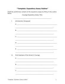 Expository Essay Outline Template best photos of essay outline format template sle