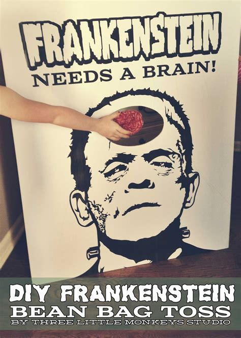 make your own bean bag toss craft make your own frankenstein needs a brain
