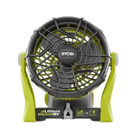 Battery Fan Home Depot by Ryobi 18 Volt One Dual Power Portable Fan Tool Only
