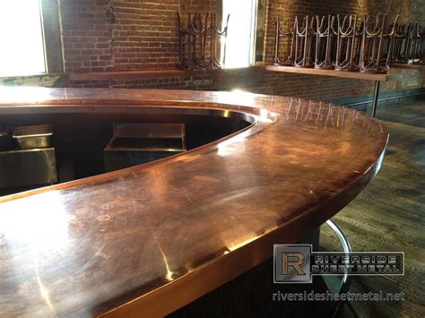 zinc table top pros and cons copper countertops size of kitchen copper