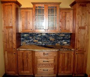 One wall kitchen design ideas focus on rustic cabinets and captivating