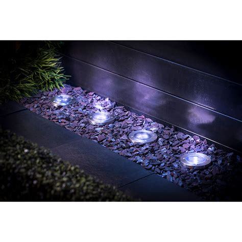 stainless steel ground lights pk garden solar lighting