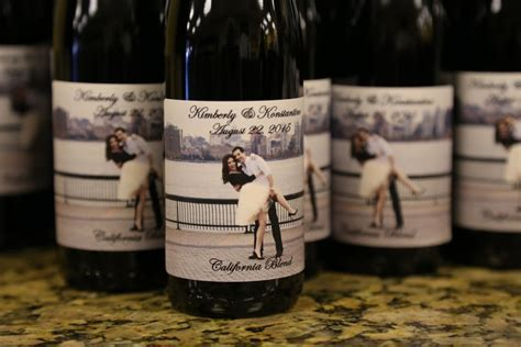 custom wine bottle favors created at Your Own Winery
