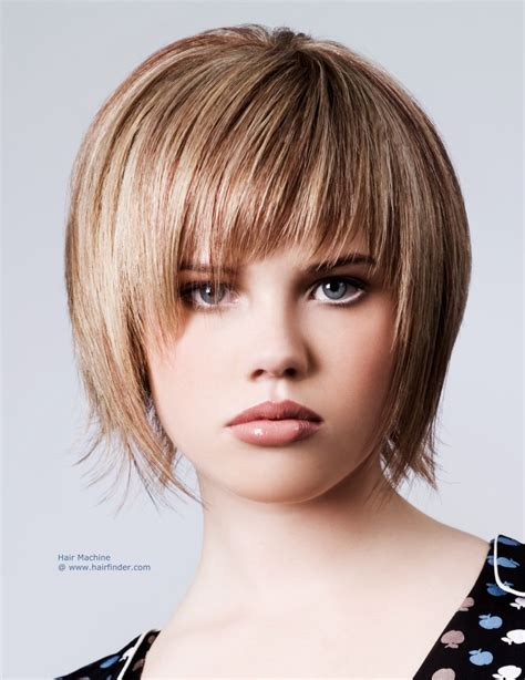 ladies choppy hairstyles with a fringe razor cut bob hairstyle textured for a choppy effect