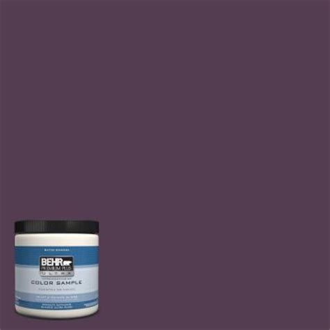 behr premium plus ultra 8 oz ppu17 2 eggplant interior exterior satin enamel paint