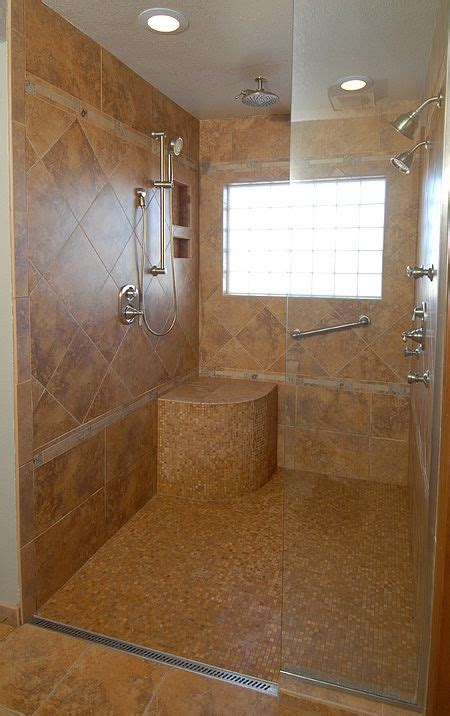 handicap bathrooms designs roll in shower with no curb for wheelchair access home