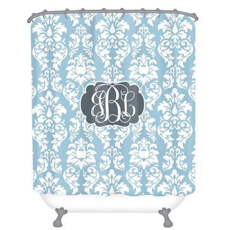 monogrammed shower curtain personalized shower curtain monogrammed shower curtain