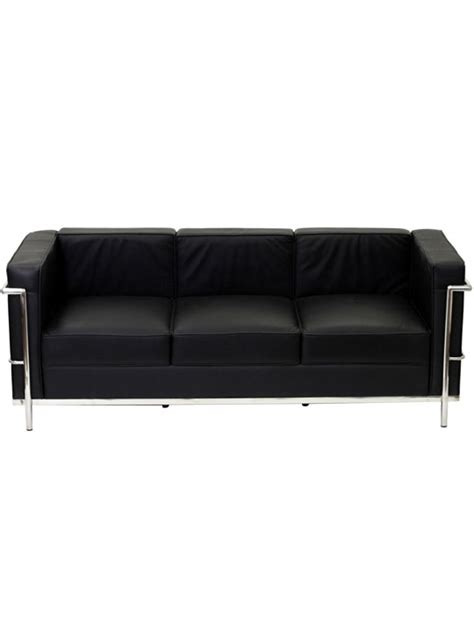 Simple Medium Leather Sofa Modern Furniture Brickell