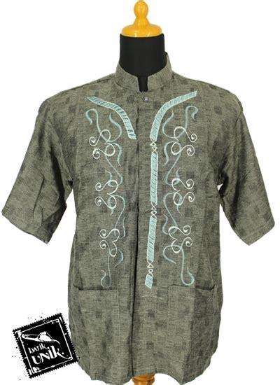Baju Muslim Dewasa Batik Baju Muslim Koko Pendek Dewasa Katun Bordir Koko Batik