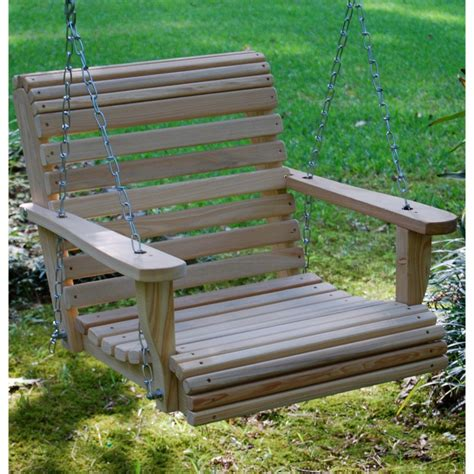 single porch swing chair la swings roll back one person swing chair