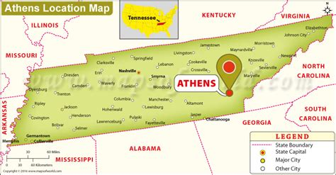 tn usa map where is athens located in tennessee usa