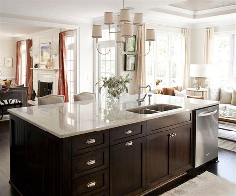 kitchen island with dishwasher kitchen island dishwasher transitional kitchen